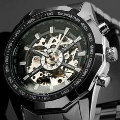 #France Solde montre bracelet m canique automatique acier inox squelette lumineux sport 24,99 € http://www.marketitaliano.it/?df=221498038554&pid=10 #Marketitaliano.it #FRA