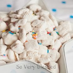 Cake Mix Puppy Chow! The nurses told me it was great...so I pinned it : )