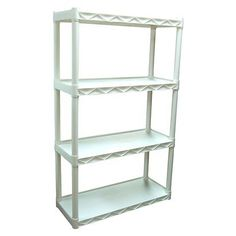 Plano Molding 4 Shelf Solid Utility Shelving Unit - White
