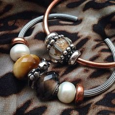 I Love Jewelry, Charm Jewelry, Beaded Jewelry, Jewelry Making, Jewellery, Glass Bead Game, Troll Beads, Jewelry Companies, Smoky Quartz