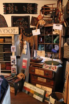 Ye Country Mercantile Wool Shop carries a wide variety of hand dyed wool, rug hooking, penny rug patterns.