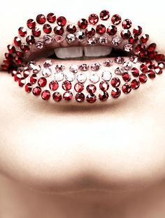 Red Jewel Lips | Claus Wickrath Beauty Photography