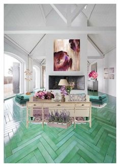 Teal and Purple Playful and Pretty by chromelabm on Polyvore featuring interior, interiors, interior design, home, home decor, interior decorating, Joybird Furniture, Pier 1 Imports, OKA and Surya