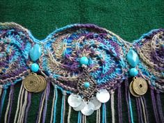 The Twisted Rose Knitted Tribal Belly Dance Hip by kathrynmeissner, $45.00