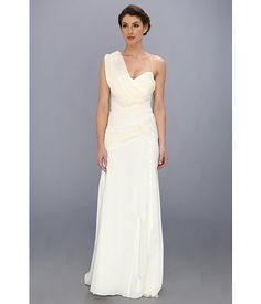 Nicole Miller Georgette Draped Bridal Gown