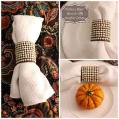 Our Pinteresting Family: Pottery Barn Knock Off Napkin Rings maybe with leather??