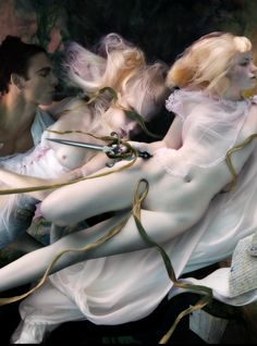 """veryprivateart: """"Underwater photos by Peter Benke Sensuality with a pinch of Kitch and a return to Romanticism: decadence as Art. Underwater Model, Underwater Photos, Underwater World, Underwater Photography, Nude Photography, Artistic Photography, Fine Art Photography, Photomontage, Photoshop"""