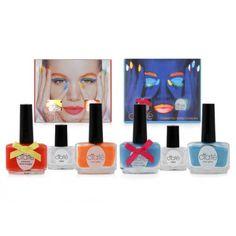 Ciate' Neon Set 2 colors Orange/Blue مجموعة طلاء الأظافر الأزرق والبرتقالي من سياتيه: طلاء الأظافر الوحيد الذي يضيء في الظلام! $82