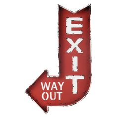Rood Exit bord
