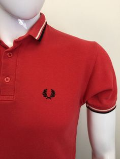 acd60bb9cfe679 #Vintage #FredPerry #Mens #PoloShirt XS #Slim Fit Red Cotton #Cheap