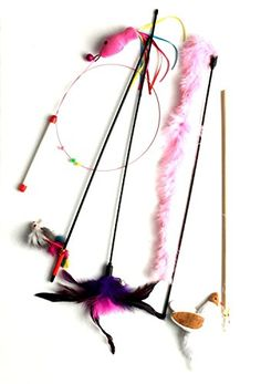 Cat Wand Toys Variety 5 Pack -- Visit the image link more details. This Amazon pins is an affiliate link to Amazon.