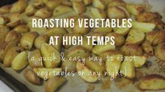 How to Roast Vegetables at High Temperatures