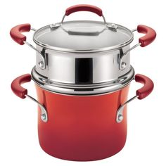 Rachael Ray 3 qt. Hard Enamel Nonstick Covered Steamer Set - 14484