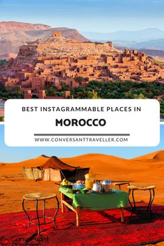 Most instagrammable places in Morocco, from the souks of Marrakech to the Sahara desert #instagram #morocco #marrakech #sahara #desert #fes #meknes