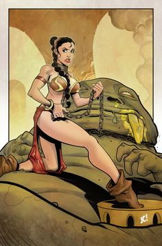 Slave Leia COLORS by *JoshuaCovey on deviantART