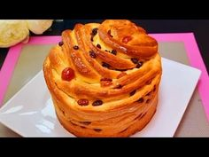 Extremely Easy and Tasty! Simple ingredients! Easter cake Craffin,! Quick breakfast recipe. - YouTube Party Desserts, Dessert Party, Party Recipes, Easter Cake, Bread Recipes, Breakfast Recipes, Bakery, Simple, Ethnic Recipes