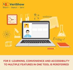 Provide one-on-one guidance for online education with VeriShow's real-time multi-media platform for website interactions. https://www.verishow.com/6-tools-that-make-e-learning-easier-infographic/