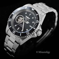 - About - Specs - Size The rich black dial with skeleton window looks amazing against the pristine surgical stainless steel case and band. Water Resistant to 200 m Automatic Movement Surgical Stainles Rolex Watches, Watches For Men, Automatic Watch, Stainless Steel Case, Specs, Skeleton, Windows, Band, Amazing