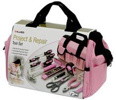 Ladies Pink Tool Bag Set Kit ,Women's Tool Set, Girls Gift Tool Assortment Camping Tools, Camping Stove, Camping Equipment, Camping Gear, Pink Tool Box, Camper Awnings, Popup Camper, Home Repair, Tool Set