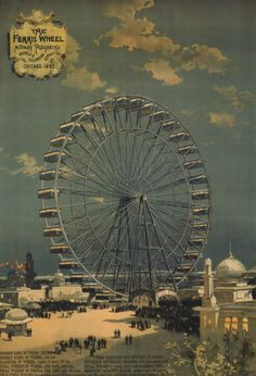 - The Ferris Wheel was introduced at the World's Columbian Exposition in Chicago, IL. With a height of metres ft) it was the largest attraction at the World's Columbian Exposition in Chicago, Illinois. Visit Chicago, Chicago City, Chicago Illinois, Chicago School, World's Columbian Exposition, Water Into Wine, My Kind Of Town, White City, World's Fair