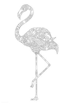64 Ideas word art quotes printables coloring pages Free Adult Coloring Pages, Animal Coloring Pages, Printable Coloring Pages, Coloring Books, Free Poster, Flamingo Coloring Page, Mode Shop, Bird Illustration, Bird Drawings