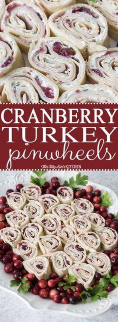 Cranberry Turkey Pinwheels - This Silly Girl's Kitchen