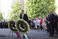 (Photo: Reuters)Norway's King Harald and Prime Minister Stoltenberg attend a wreath laying ceremony during a ceremony to mark the one year anniversary of the twin Oslo-Utoeya massacre by self confessed killer Breivik, in Oslo.