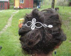 Celtic Infinity Loops Aluminum Shawl Pin Hair Pin Hair