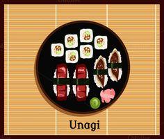 Unagi Sushi Design by robuart on @graphicsmag