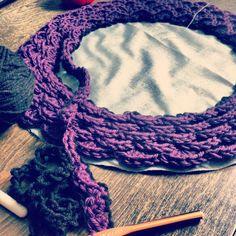 Crocheted pillow.
