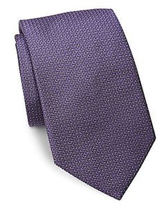 Ralph Lauren Textured Silk Tie - Lavender - Size No Size