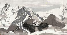 Wu Guanzhong: Yulong Mountain under the Moon   China Online Museum