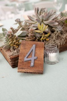 Front porch: house numbers (use for wedding table numbers, then save all the numbers and when you move into your home as a couple use numbers on your home!)