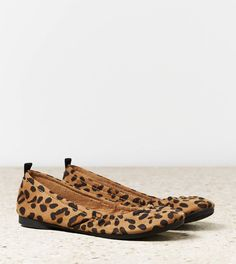 American eagle outfitters leopard print flats