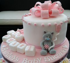 heart Cakes for girl baby showers | Baby Shower