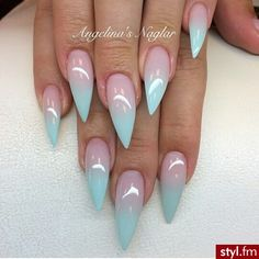 Not so pointy but love the ombre
