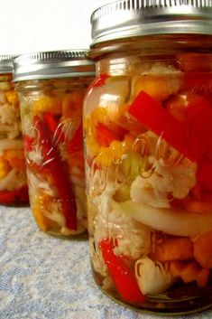 These spicy Mexican Pickled Vegetables are like a Mexican version of Italian giardiniera and are delicious with tacos and as a condiment for any sandwich or burger. #canning #vegan #healthyrecipe #mexican #vegetables