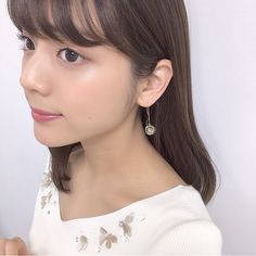 Hot Japanese Girls, Woman Face, Pearl Earrings, Pearl Studs, Female Faces, Beaded Earrings, Bead Earrings