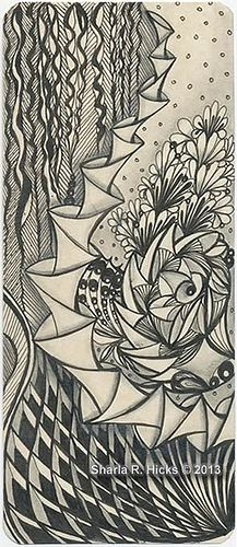 Bookmark by Sharla R. Hicks, Certified Zentangle Teacher CZT by Sharla R. Hicks CZT, via Flickr