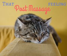 Massage leaves you feeling relaxed and happy