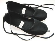 Eco-chic Handmade Vegan Ballet Flat in Black - 902B