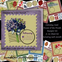 Stamp Flower of the Month Bumper Kit on Craftsuprint - Add To Basket!