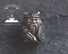 Viking  Paracord Knife Lanyard Bead in Bronze