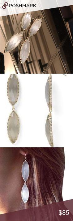 Kendra Scott Harrah  Earrings in Slate Vintage comes with dust bag Kendra Scott Jewelry Earrings