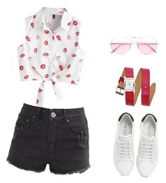 """""""summer"""" by hadnagy on Polyvore featuring Liquor n Poker, Prada, Oliver Peoples and Rebecca Minkoff"""