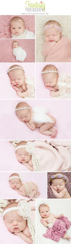 newborn photography in winston salem nc | triad newborn photographers | greensboro | high point | kernersville | clemmons | nc | pink cream neutral shabby chic baby girl newborn session ideas