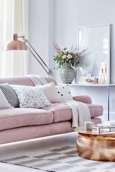 green and pink living room luxe interior - Google Search