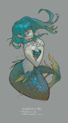 Drawing Mermaid Lights 69 New Ideas Inspiration Art, Character Inspiration, Character Art, Anime Mermaid, Mermaid Art, Siren Mermaid, Mermaid Pose, Mermaid Nails, Art Anime