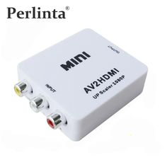 [Visit to Buy] Perlinta Mini RCA CVBS AV To HDMI Converter Adapter For VCR DVD 720P 1080P #Advertisement