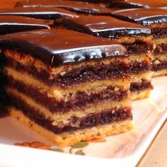 Hungarian Desserts, Hungarian Cake, Hungarian Recipes, Torte Cake, Cake Bars, Smoothie Fruit, Cookie Recipes, Dessert Recipes, Sweet Cookies